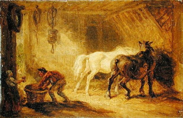 Interior of a Stable, c.1830-40