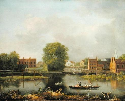 A River Landscape, possibly a View from the West End of Rochester Bridge, 1800-10