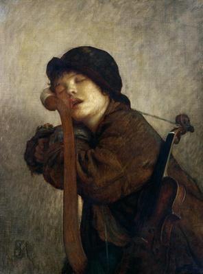 The Little Violinist Sleeping, 1883