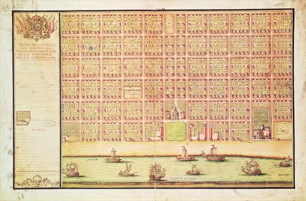Plan of New Orleans, 1738