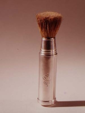 Shaving brush, with silver handle, London, 1797