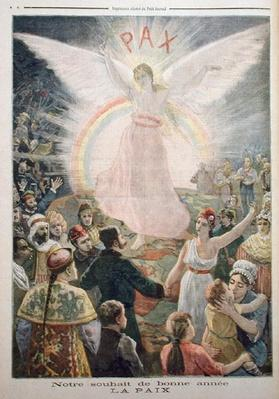 Our Hope for the New Year: Peace, from 'Le Petit Journal', 1st January 1894