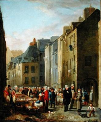 The Fish Market in Cherbourg, 1830-40