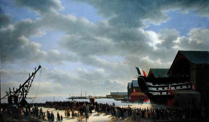 The Launch of 'Le Friedland' at Cherbourg, 4th April 1840, c.1840-54