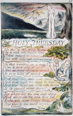 'Holy Thursday', plate 38