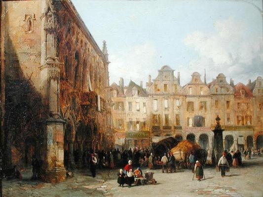 The Hotel de Ville, Arras, 1856