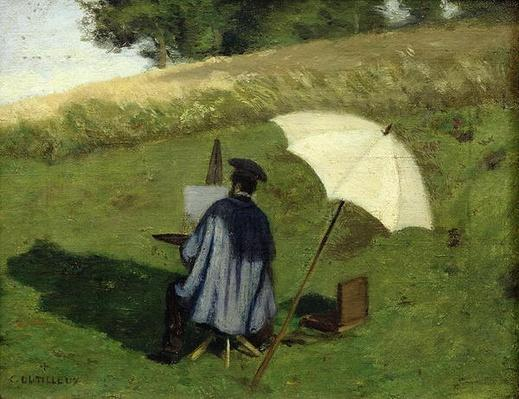 Desire Dubois Painting in the Open Air, c.1852