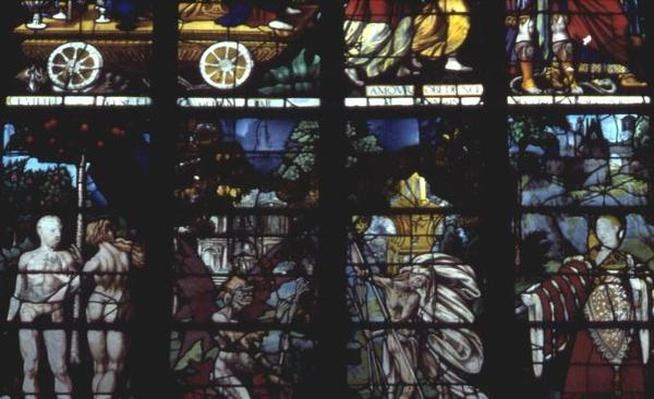 Window depicting Adam and Eve