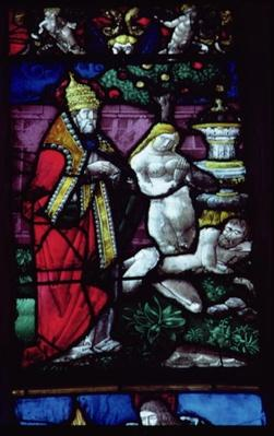 Window depicting the Creation of Eve
