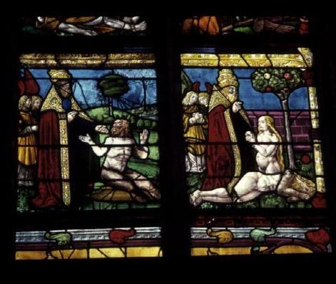 Window depicting the Creation of Adam and Eve
