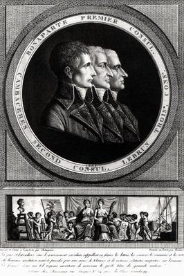 Portrait of the Three Consuls of the Republic, completed by Edme Bovinet