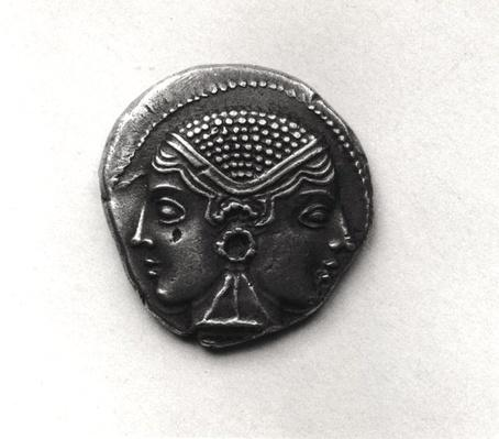 Coin from Lampsacus with a Janiform head