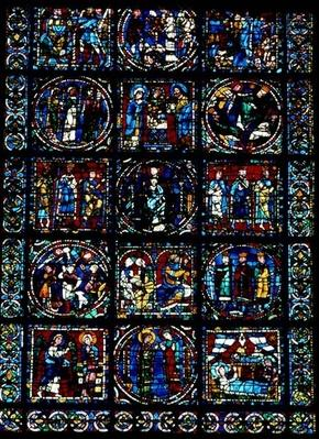 The Life of Christ, New Testament Cycle, lower half of window, c.1145-50