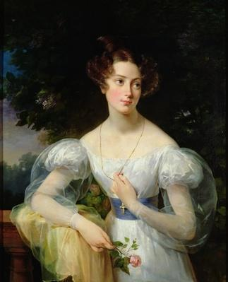 Portrait of Hortense Ballu, future Madame Alphonse Jacob-Desmalter, c.1832-37