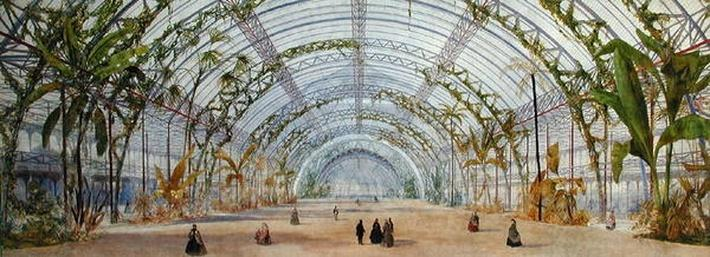 Interior design for a crystal palace in the Parc de Saint-Cloud, c.1860-62