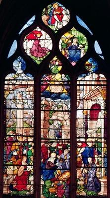 Window depicting the Nativity
