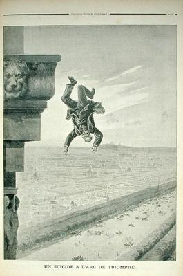 A Suicide at the Arc de Triomphe, from 'Le Petit Journal', 8th May 1898
