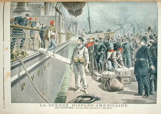 The First Prisoners at Key West during the Spanish American War, from 'Le Petit Journal', 8th May 1898