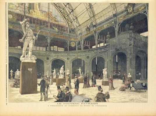 The New Sculpture Pavilion at the Palais de l'Industrie, from 'Le Petit Journal', 21st May 1892