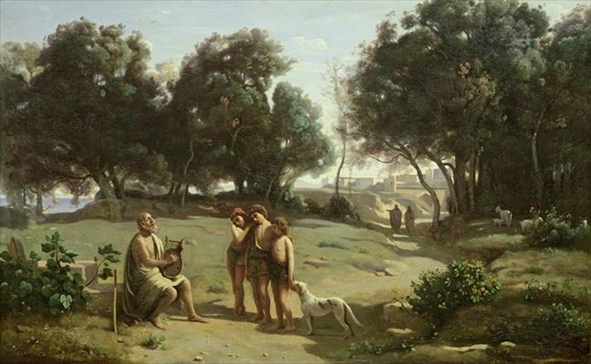 Homer and the Shepherds in a Landscape, 1845