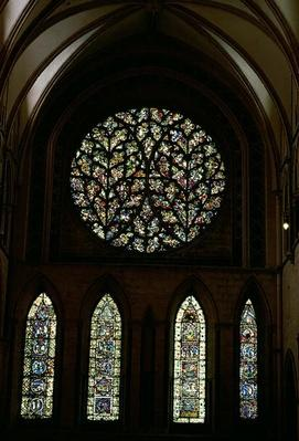 South transept rose window known as 'The Bishop's Eye'
