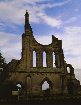 Ruin with rose window, c.1190