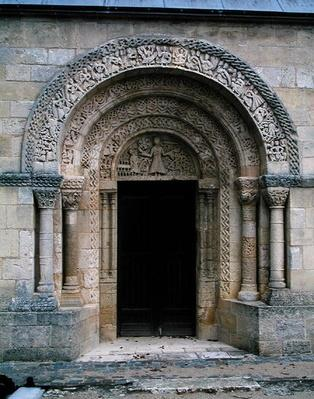 Romanesque porch