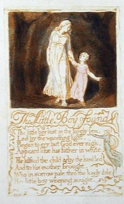 'The Little Boy Found', plate 21 from 'Songs of Innocence', 1789