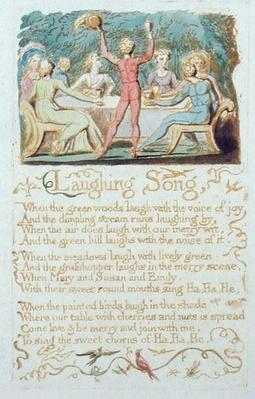 'Laughing Song', plate 28 from 'Songs of Innocence', 1789