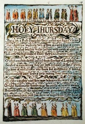 'Holy Thursday', plate 10