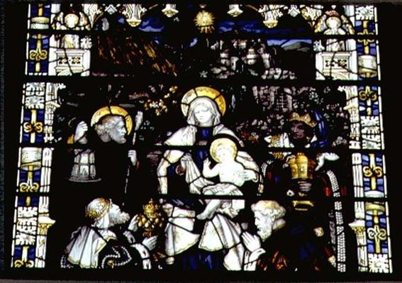 Adoration of the Magi, manufactured by Kempe & Co.