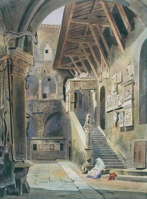 Court of the Bargello, Florence, 1839
