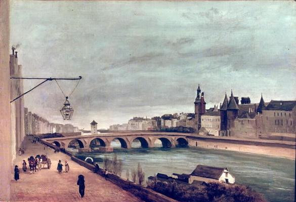 View of the Pont au Change from Quai de Gesvres, Summer 1830