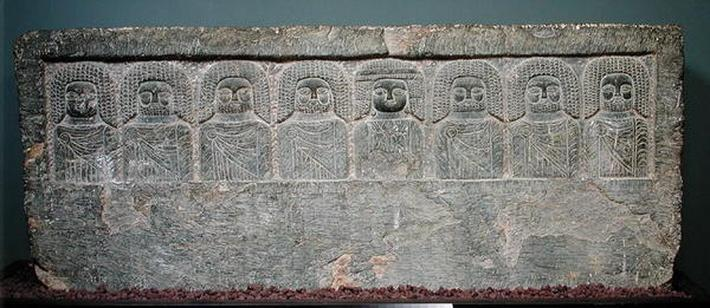 Stela with eight Libyan divinities, from Borj Helal, 2nd-1st century BC