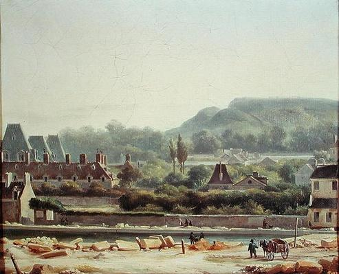 The Hopital Saint-Louis and the Buttes-Chaumont in 1830