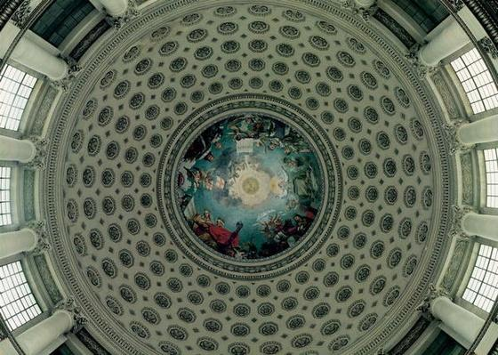 The Apotheosis of St. Genevieve, detail from the cupola, c.1812
