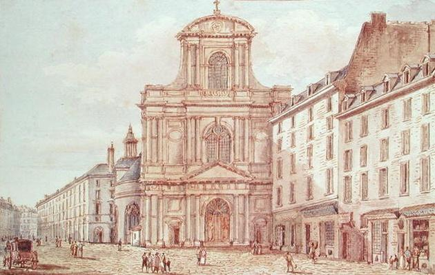 View of the Portal of the Church of Saint-Gervais, Paris