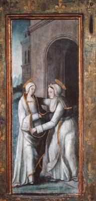 The Visitation, left hand panel from a triptych
