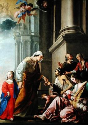 St. Anne, Accompanied by the Virgin Mary, Giving Alms