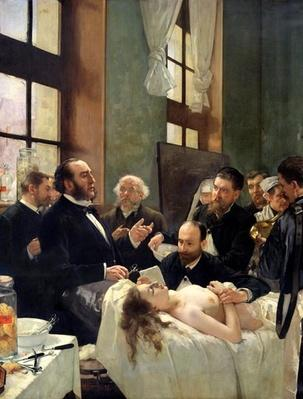 Before the Operation, or Doctor Pean teaching at Saint-Louis hospital, 1887