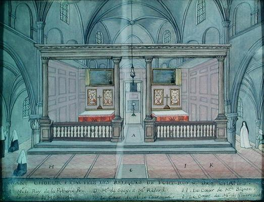 View of the Chancel and Altar, from 'L'Abbaye de Port-Royal', c.1710