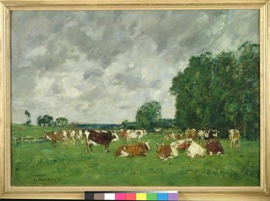 Pasture in Fervaques or, Cows in a Pasture, 1874