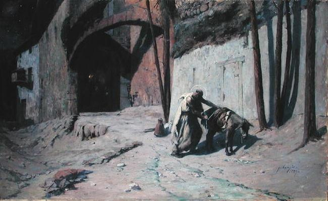 The Flight into Egypt or, Joseph Putting a Pack on his Donkey, 1894