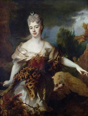Portrait of Mademoiselle de Barral as Diana, c.1714
