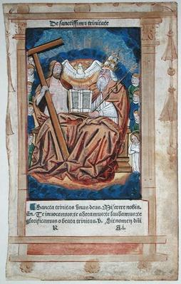 CL 22719A The Trinity, from 'Feuillets de Psaumes'