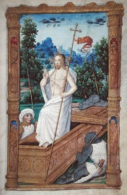 Fol.45r The Resurrection, from 'Heures a l'Usage de Rome'
