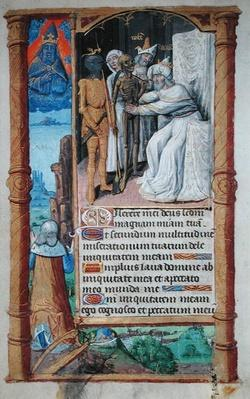 Fol.52v The Death of David, from 'Heures a l'Usage de Rome'