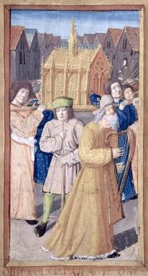 Fol.56r David and the Ark of the Covenant, from 'Heures a l'Usage de Rome'