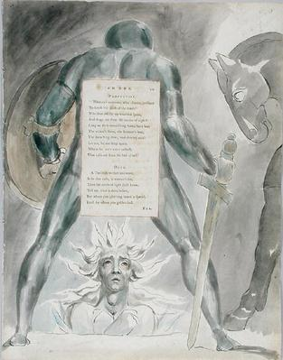 'The Descent of Odin', design 81 from 'The Poems of Thomas Gray', 1797-98