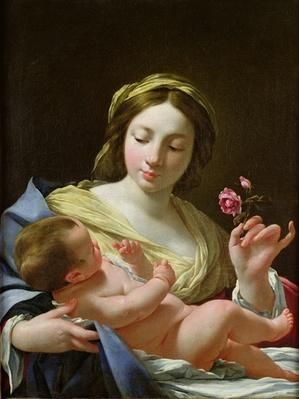 The Virgin and Child with a Rose